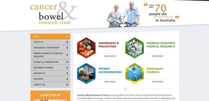 Website Launched for Cancer & Bowel Research Trust