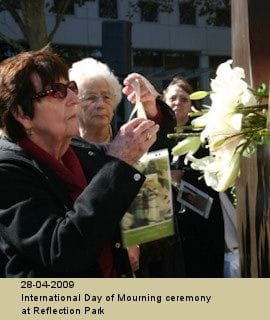 International Day of Mourning ceremony at Reflection Park