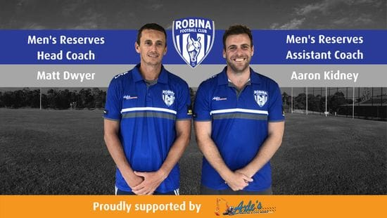 Roos Announce New Men's Reserves Coaches for 2019