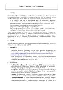 Clinical Trial Research Agreements