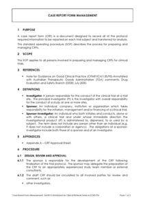 Case Report Form Management