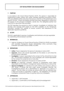SOP Development and Management