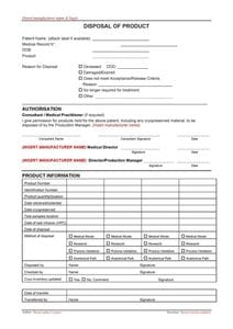 Disposal Form