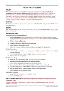 Facility Management Guidance