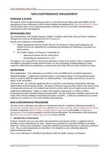 Non-conformance Management