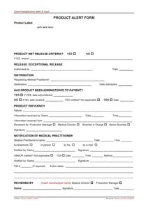Product Notification Form