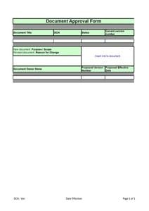 Document Approval Form