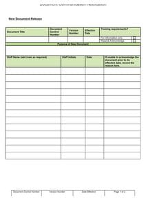 Document communication template