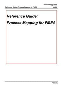 Performing Process Mapping for FMEA