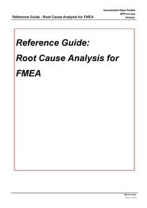 Performing Root Cause Analysis for FMEA