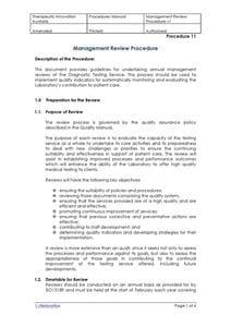 Management Review Procedure
