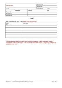 List master template