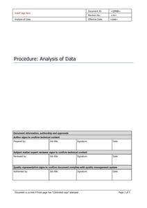 Analysis of Data