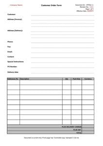 Customer Order Form