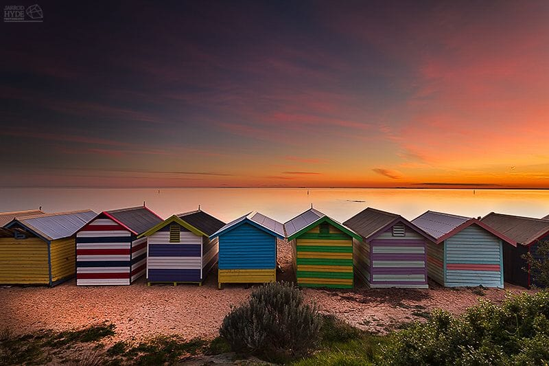 Brighton Beach Sunset - Jarrod Hyde - Lustre Print