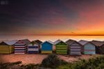 Brighton Beach Sunset - Jarrod Hyde - Stretched Canvas