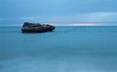 Rock at Mentone by Karen Foenander