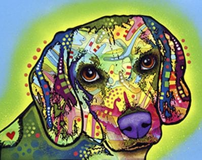 Dog Pop Art 115405
