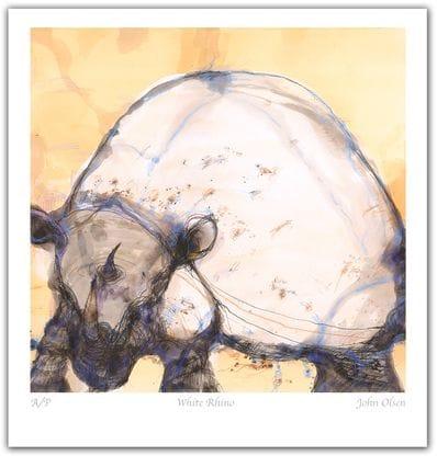 White Rhino - John Olsen