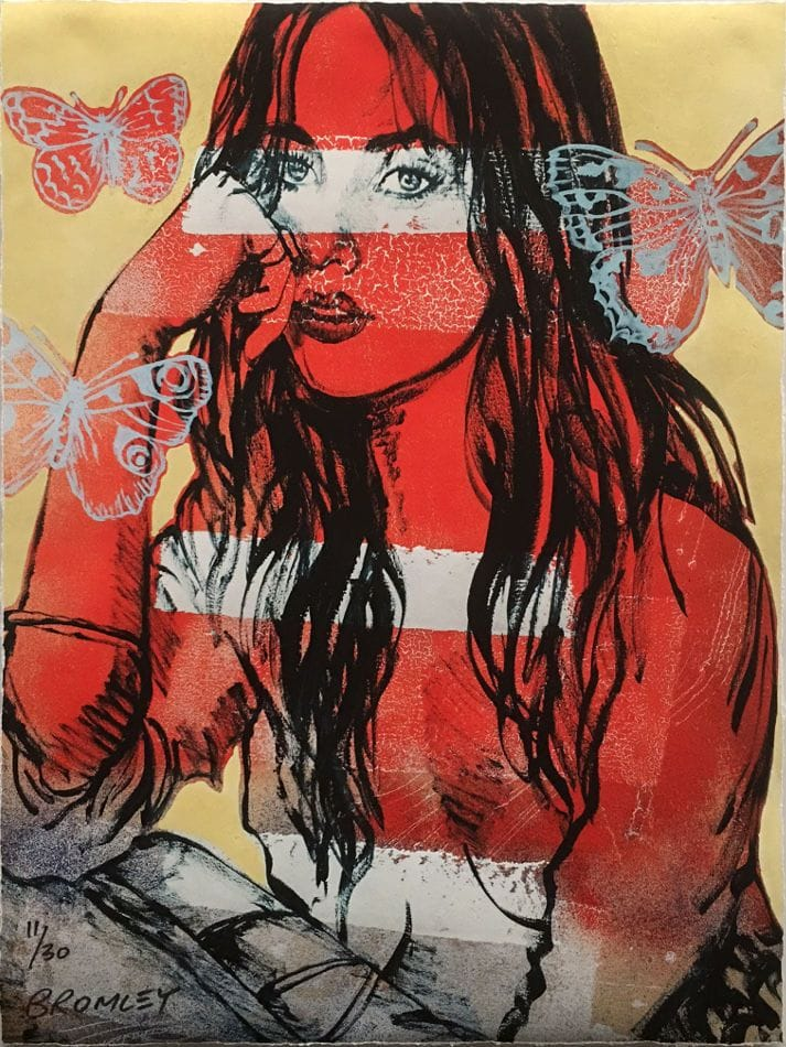 Thumbnail David Bromley - Red Nude Butterflies