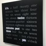 Word Clock with Powder Coated Stainless Steel Face
