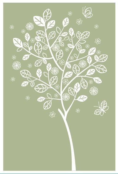 SC-9011 PREPRINT BACKGROUND SEED SACHETS - Tree