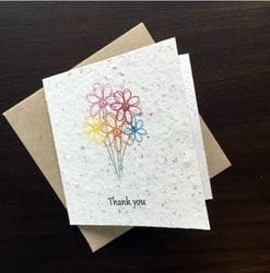 SC-9042 SEEDED PAPER - Greeting Card - Small