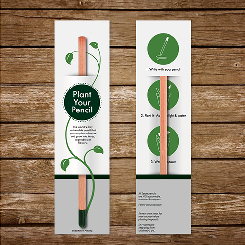 SC-9047 PLANTABLE PENCIL with Narrow Card