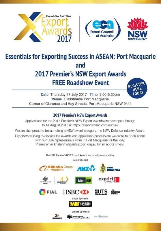 The Export Council of Australia (ECA) heads to Port Macquarie