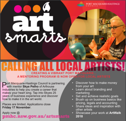 Applications now open for ArtSmarts free business mentoring program