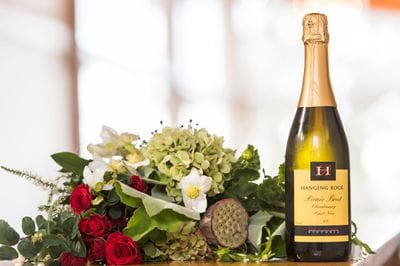 Wine and flowers at Macedon Ranges Hotel & Spa