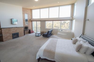 The Deluxe Starlight Suite available at Macedon Ranges Hotel & Spa