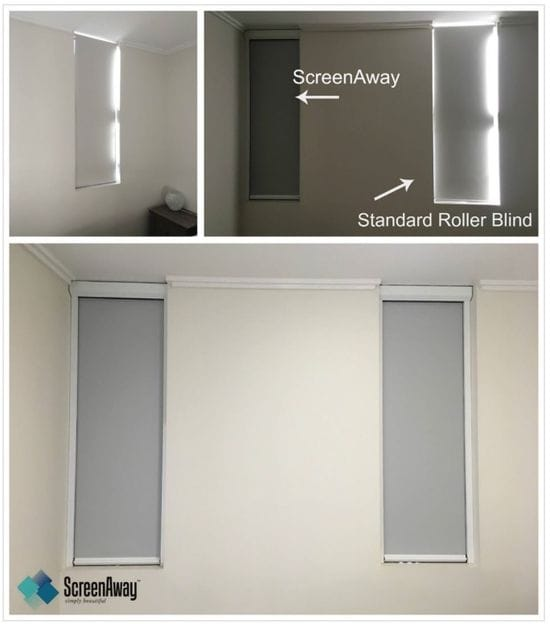 ScreenAway blinds compared to roller blinds