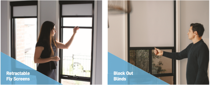 Custom Window blinds & retractable flyscreens solution