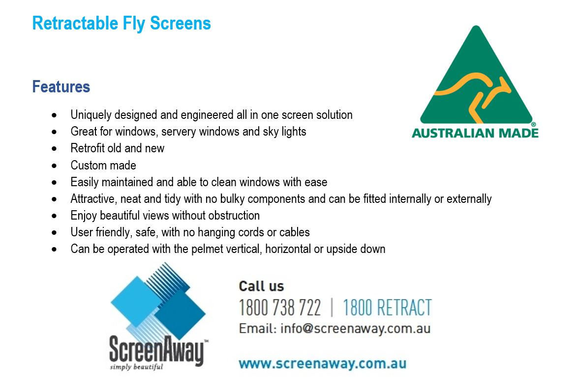 Retractable Flyscreens - Modern & Convenient