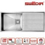 SWEDIA DROMMA Kitchen Sink 1000mm Single Bowl - 1.5mm Thick Stainless Steel