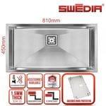 SWEDIA DANTE Kitchen Sink 300mm Half Bowl Kitchen Sink - 1.5mm Thick Stainless Steel