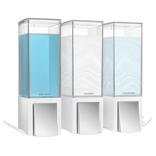 CLEVER Triple Shower Dispenser - Matte White