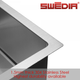 Thumbnail SWEDIA DANTE Kitchen Sink 550mm Deep Bowl with Tap Hole - 1.5mm Thick Stainless Steel