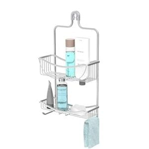 VENUS 2 Tier Hanging Shower Caddy - Aluminium Grey