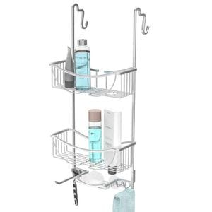VENUS 3 Tier Over the Door  Shower Caddy - Aluminium Grey