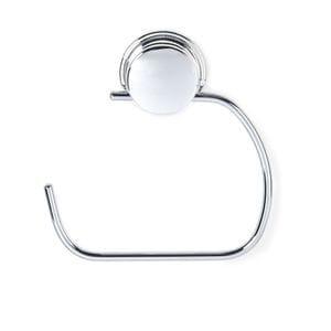 KROMA Stick n Lock Toilet Roll or Towel Holder - Chrome