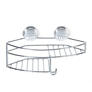 KROMA Stick N Lock Combo Shower Basket - Chrome