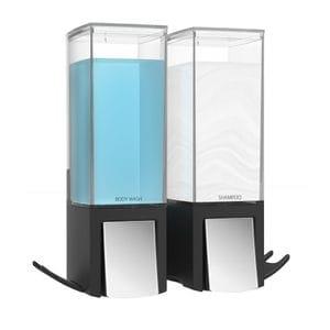 CLEVER 500ml Dispenser Double - Matte Black