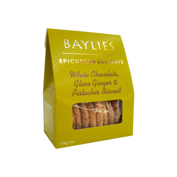 White Chocolate Ginger and Pistachio Biscuits 150g