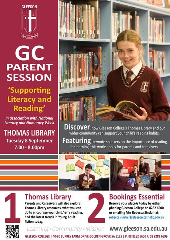 GC Parent Session: 'Supporting Literacy and Reading'