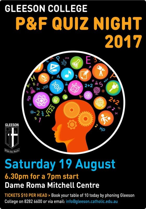 2017 P&F Quiz Night > Book Your Table Today!!