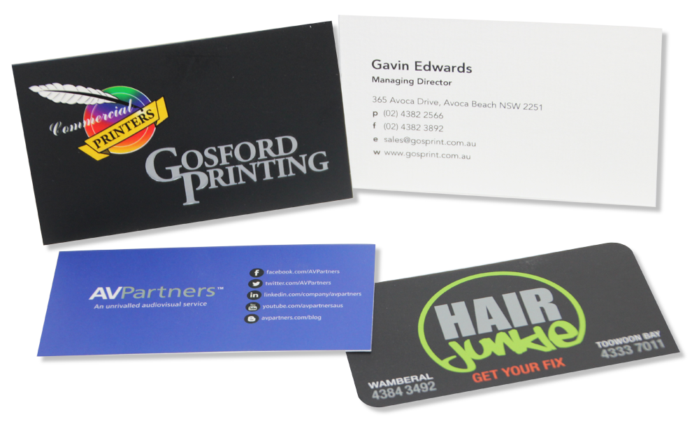 Gosford printing business cards central coast business cards reheart Image collections