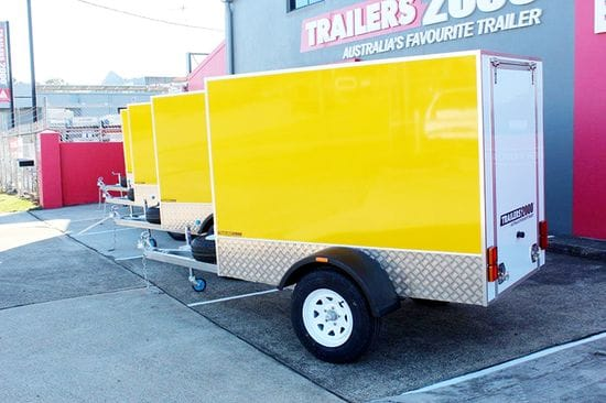 Our new 7x4 x 5' luggage trailers