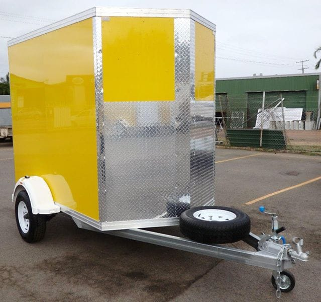 Our new 8x5' 'V' nose furniture trailers